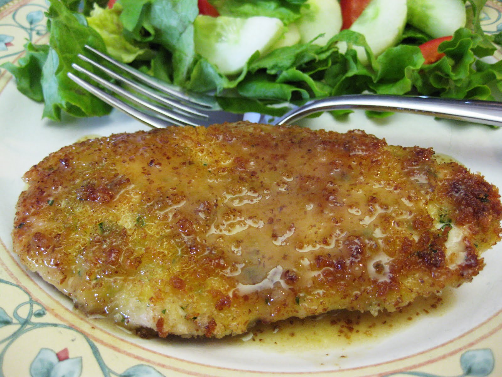 Bloatal Recall: Panko-Crusted Chicken with Mustard-Maple Pan Sauce