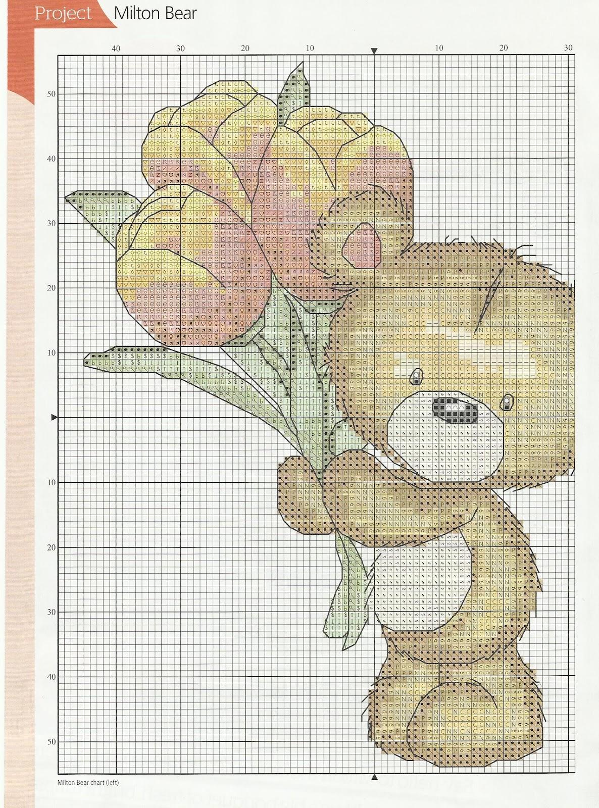 Вышивка гладью медвежонка 14