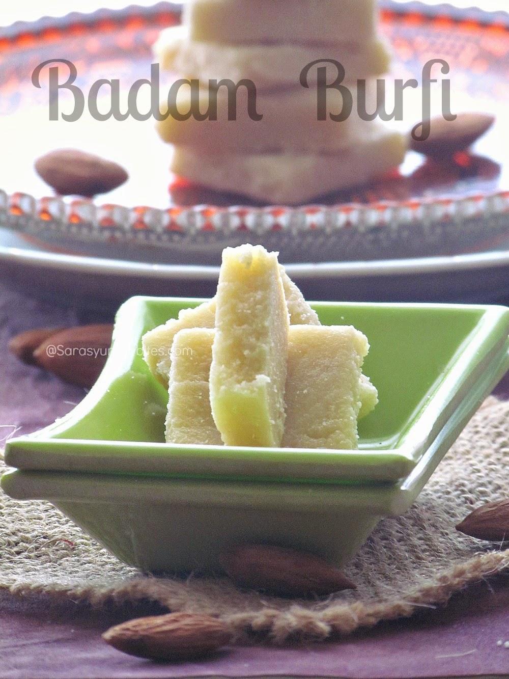 Almond Burfi / Badam Burfi
