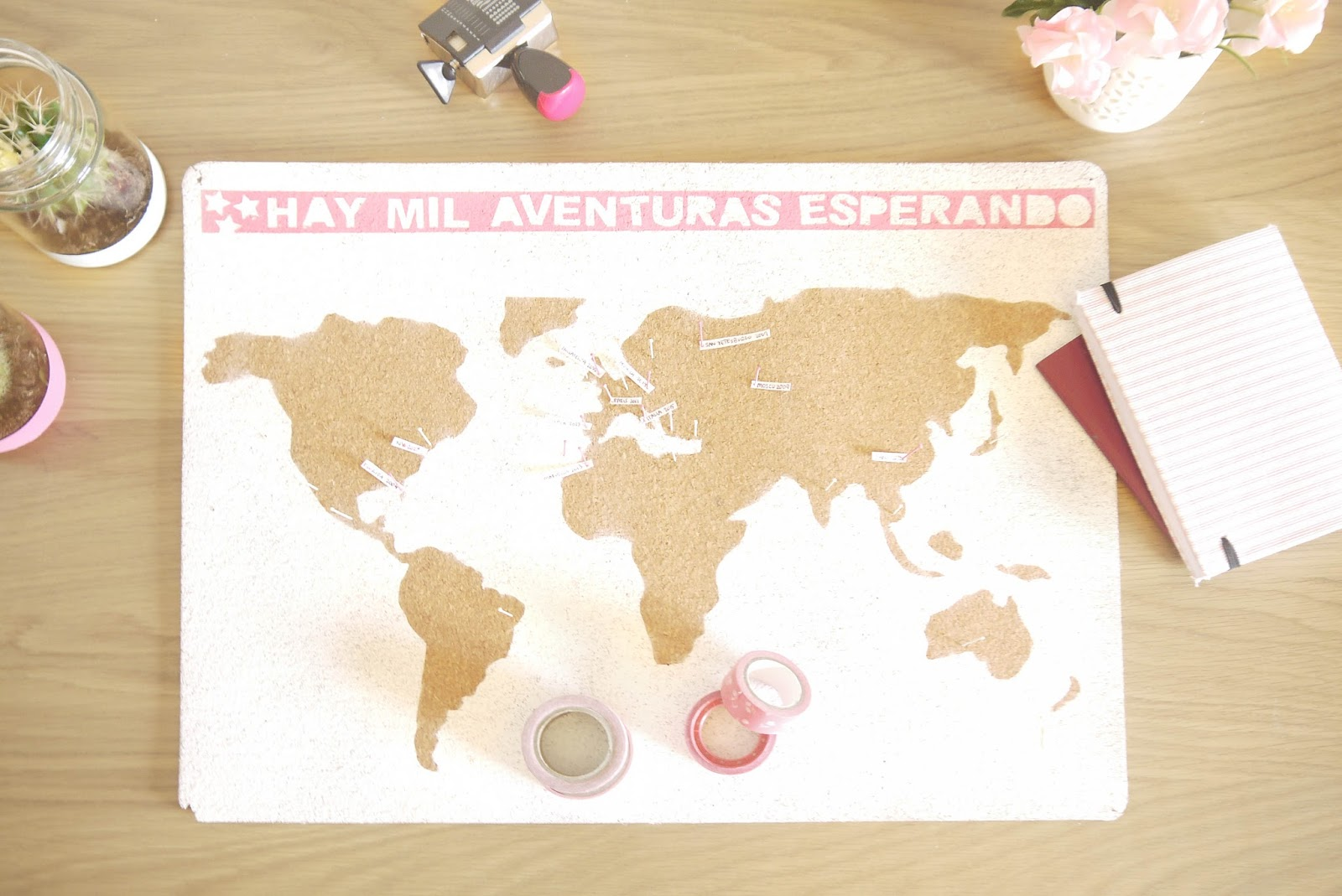 DIY - MAPA DE VIAJES CON SPRAYS - Handbox Craft Lovers | Comunidad ...