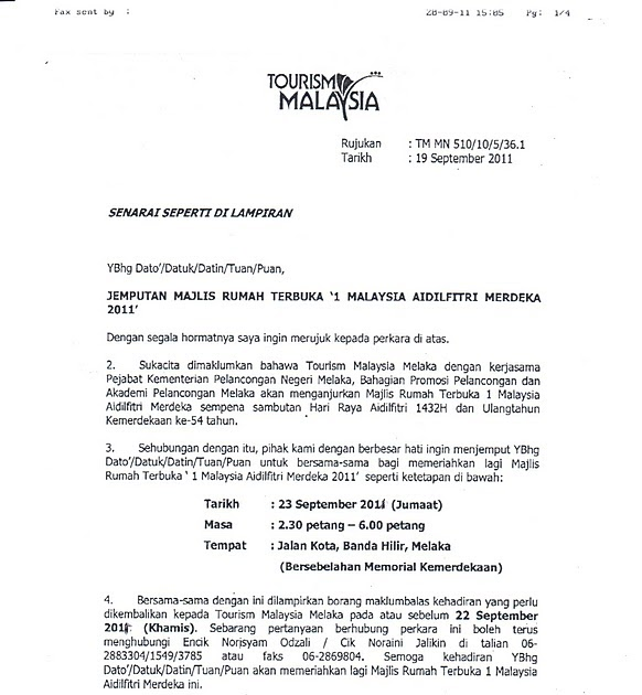 Hari Raya Open House Invite Life In Melaka Pages
