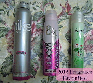 2012 Fragrance Favourites; body spray/deodorant