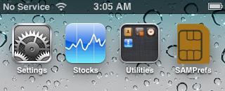 SAM - desbloqueio para o iPhone