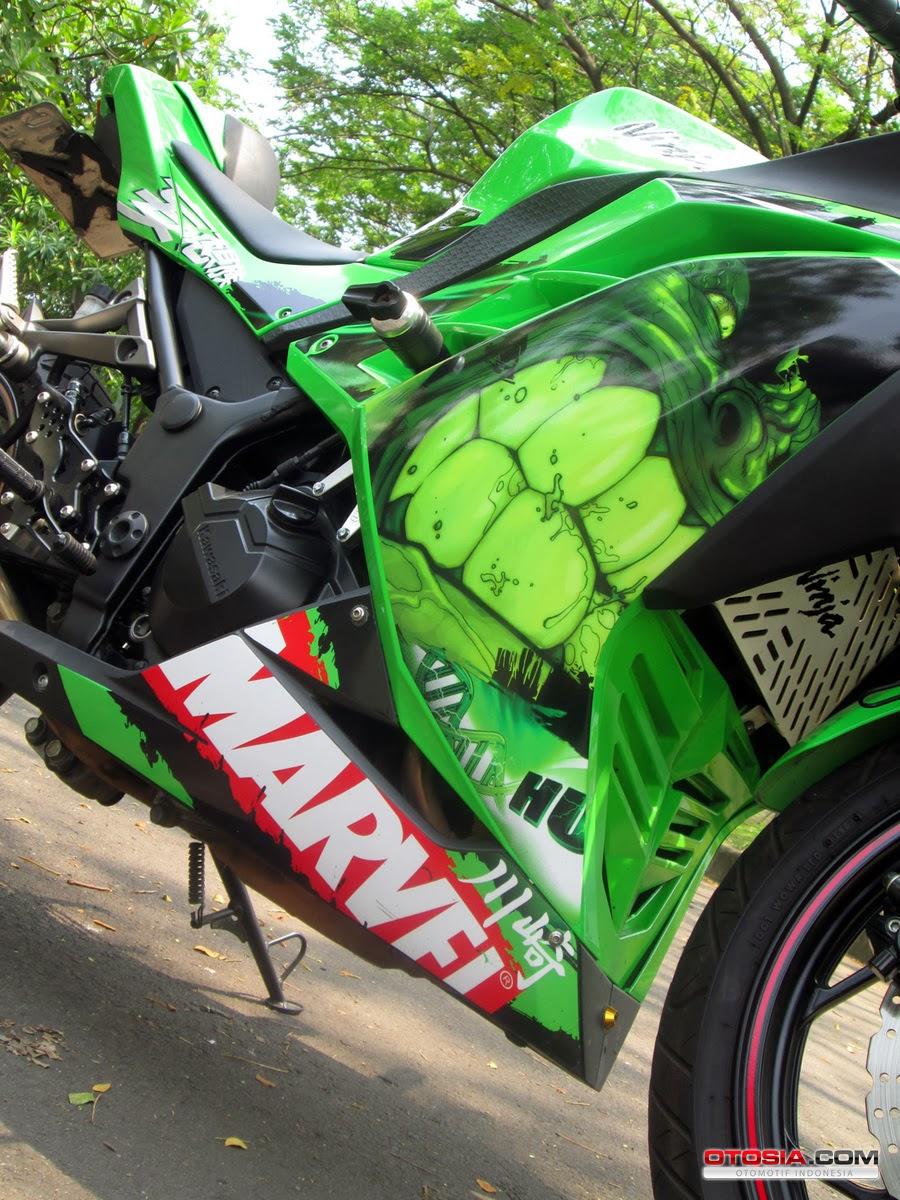 Berikut Foto Modifikasi Motor Kawasaki Ninja N250 FI Keluaran 2013: title=