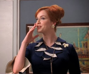 Mad Men Joan Holloway Christina Hendricks ruffle collar