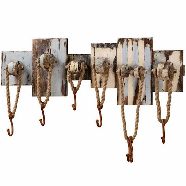nautical beach themed coat rack