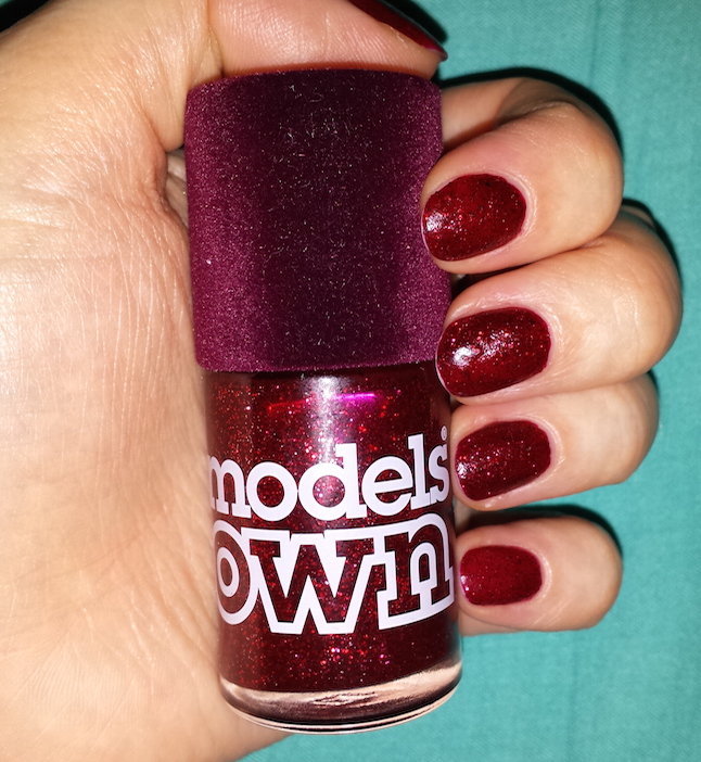 Models Own Velvet Goth Nail Polish in Sardonyx Swatch - Birchbox Sophia Webster December 2014
