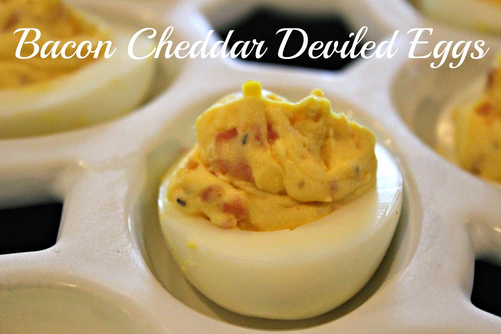 simply made with love: Bacon Cheddar Deviled Eggs