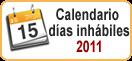 calendario días inhábilies