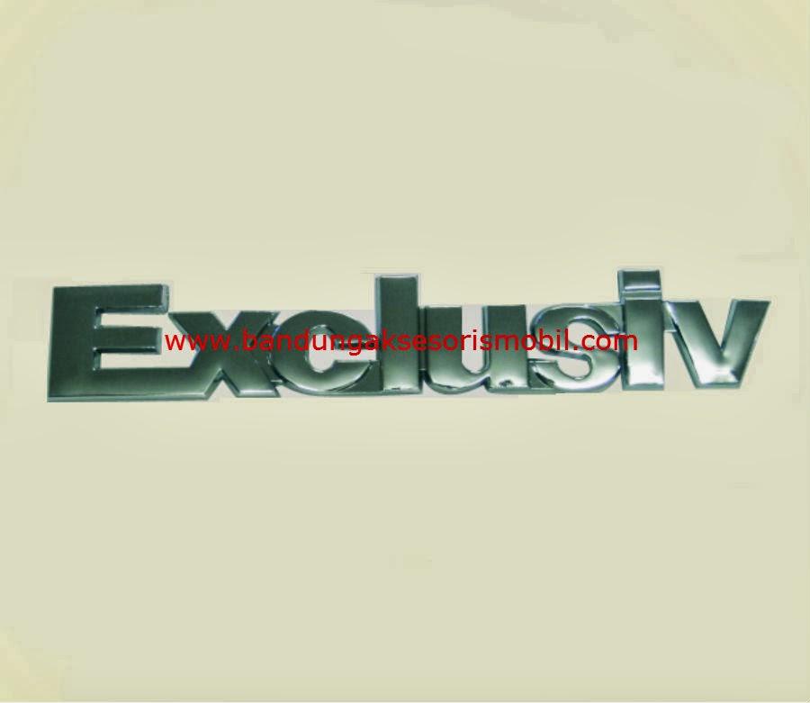 Emblem Tulisan Exclusiv