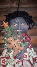 PRIMITIVE BLACK CHRISTMAS DOLL