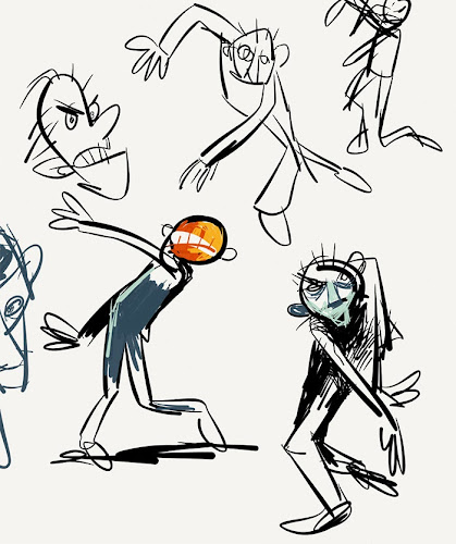 sketches of zombie character