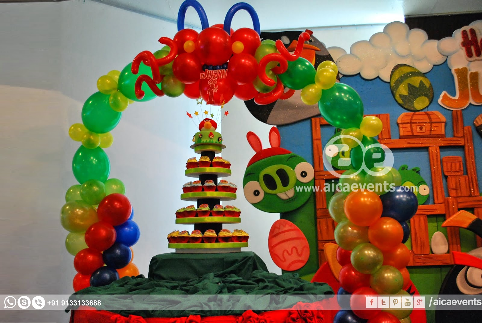Aicaevents india angry bird theme decors for birthday parties for Angry birds party decoration ideas