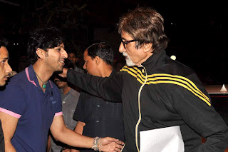 Amitabh Bachchan snapped with Salim Merchant