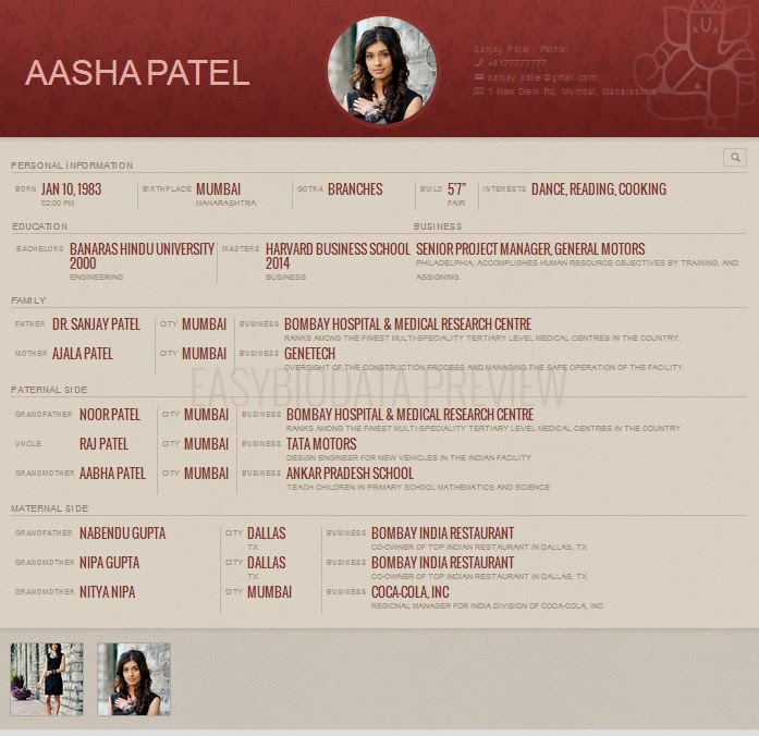 Biodata Format created with easyBiodata.com