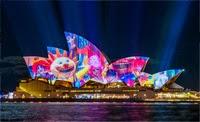 Australia's Sydney Opera House light show enthralls visitors