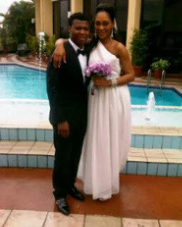 Kalu Uche and Wife