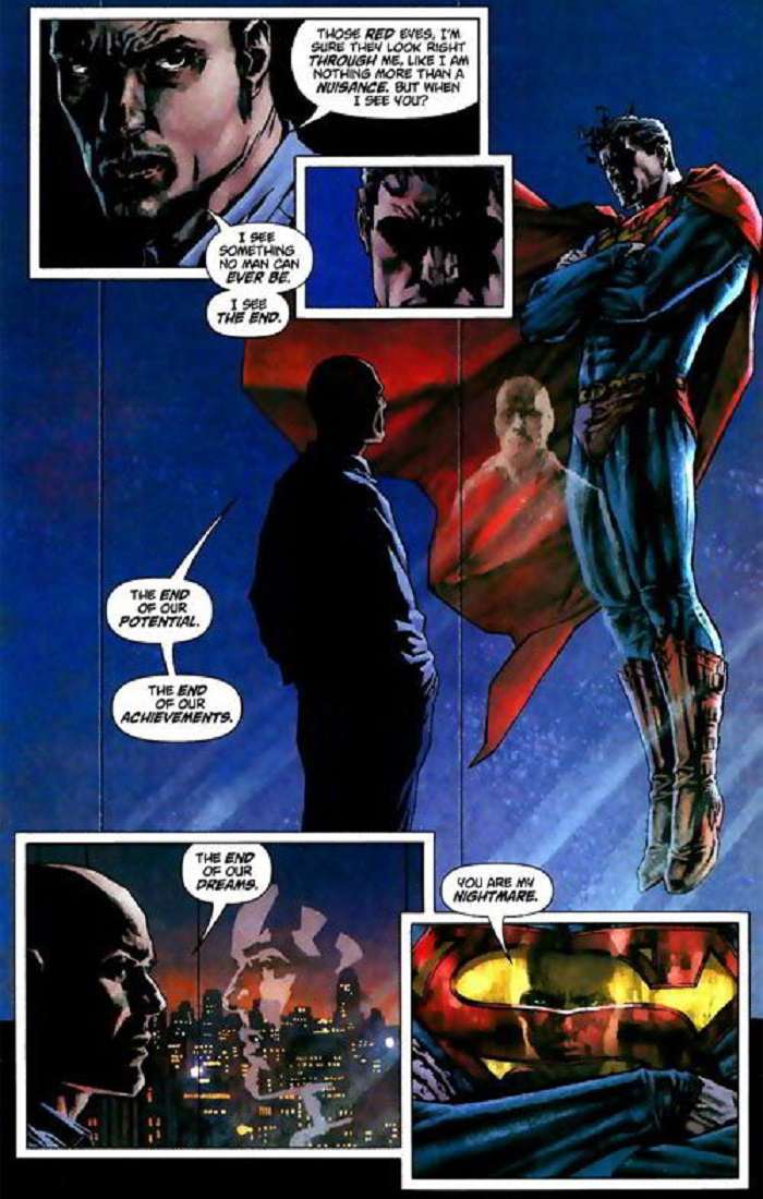 Lex Luthor face to face Superman