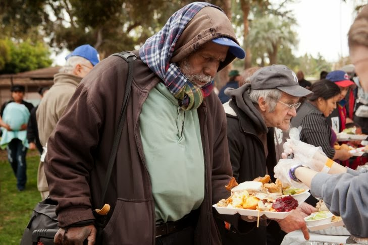 pasadena thanksgiving homeless