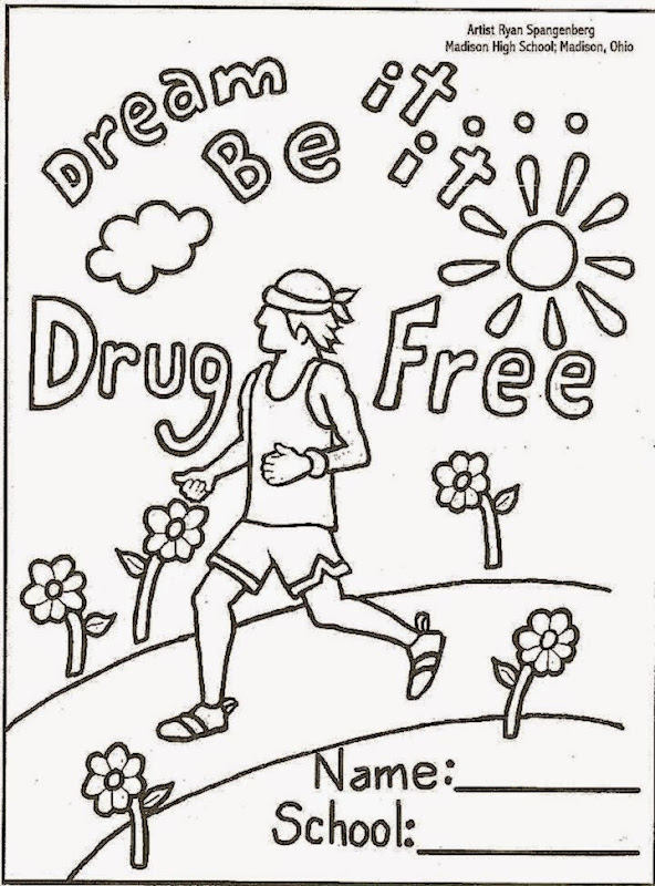 drug free coloring sheets