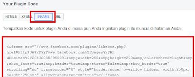 cara memasang widget likebox pada blogger