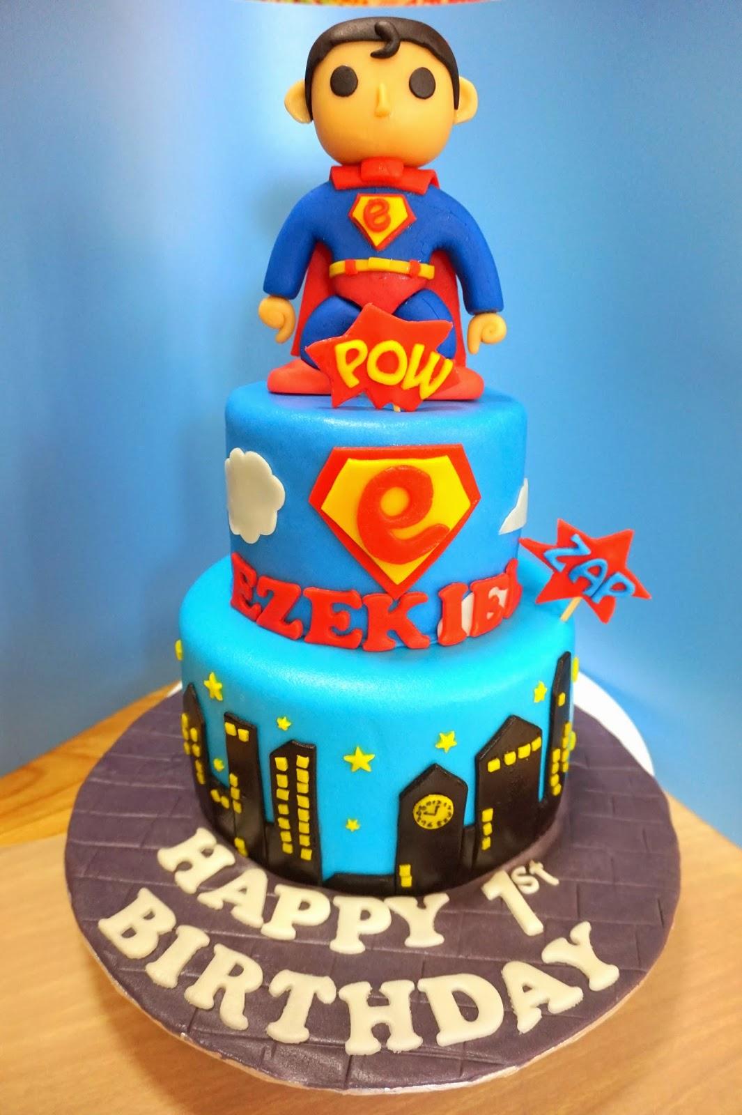 Superman Cake Sherbakes