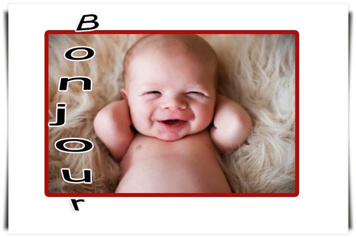 Photo bébé drôle bonjour
