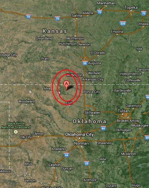 Magnitude 2.6 Earthquake of Medford, Oklahoma 2014-09-29