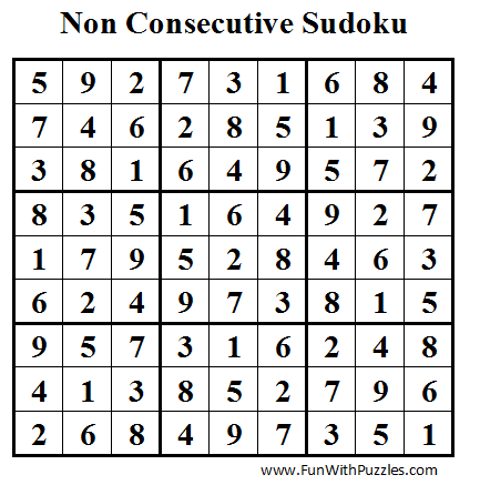 Non Consecutive Sudoku (Daily Sudoku League #34) Solution