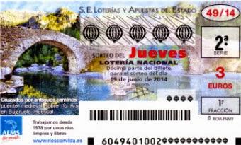 Lotería nacional, sorteo 49 del jueves 19 de junio de 2014