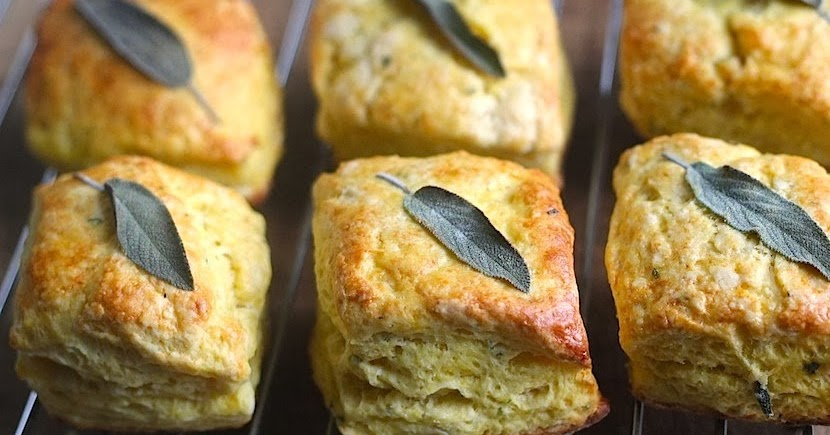 Delicata Squash and Sage Biscuits