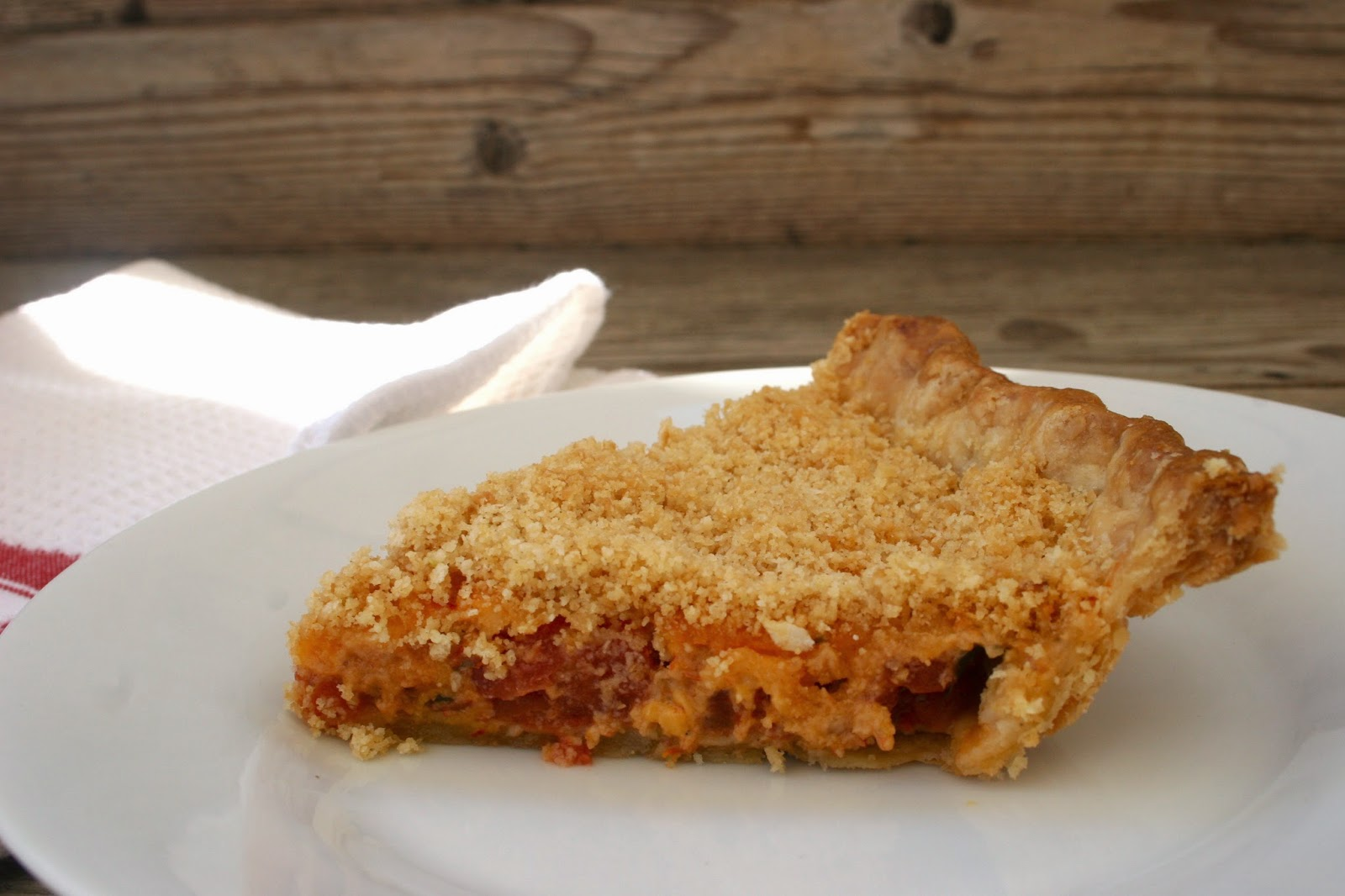 Pimento Cheese and Tomato Pie Slice