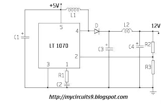 5V to 12V converter stepup circuit