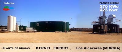 planta de biogas los alcázares Murcia Kernell Exports por Inderen