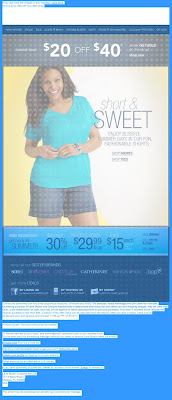 Click to view this highlighted June 10, 2011 Lane Bryant email full-sized