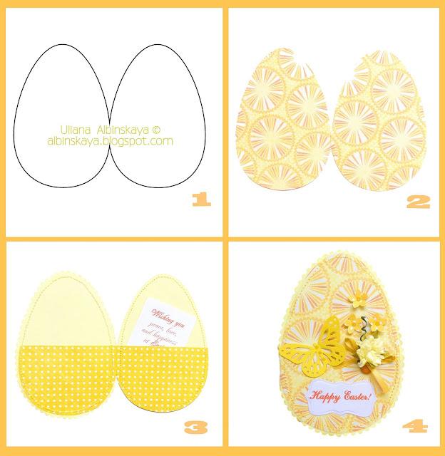 Шаблон яйца для рисования