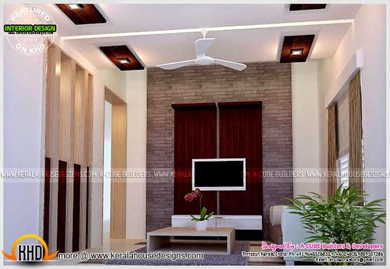 Living room interior in Kerala