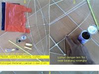 Cara Membuat Layangan Keketan 1 Meter Dengan Alat Pembuat Layangan Bagian 2 (Menyamak)