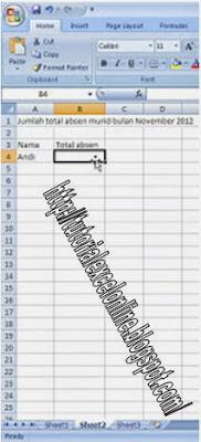 Cara Memberi Link Antar Sheet Pada Exel