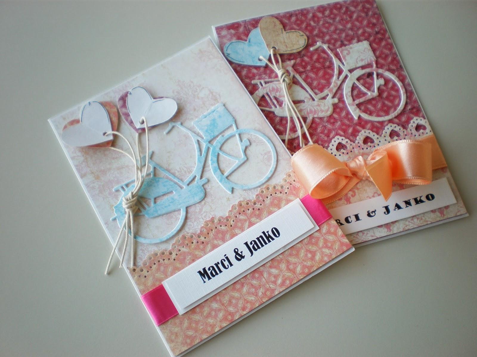 Bicyklové svadobné oznámenia / Bike wedding invitations