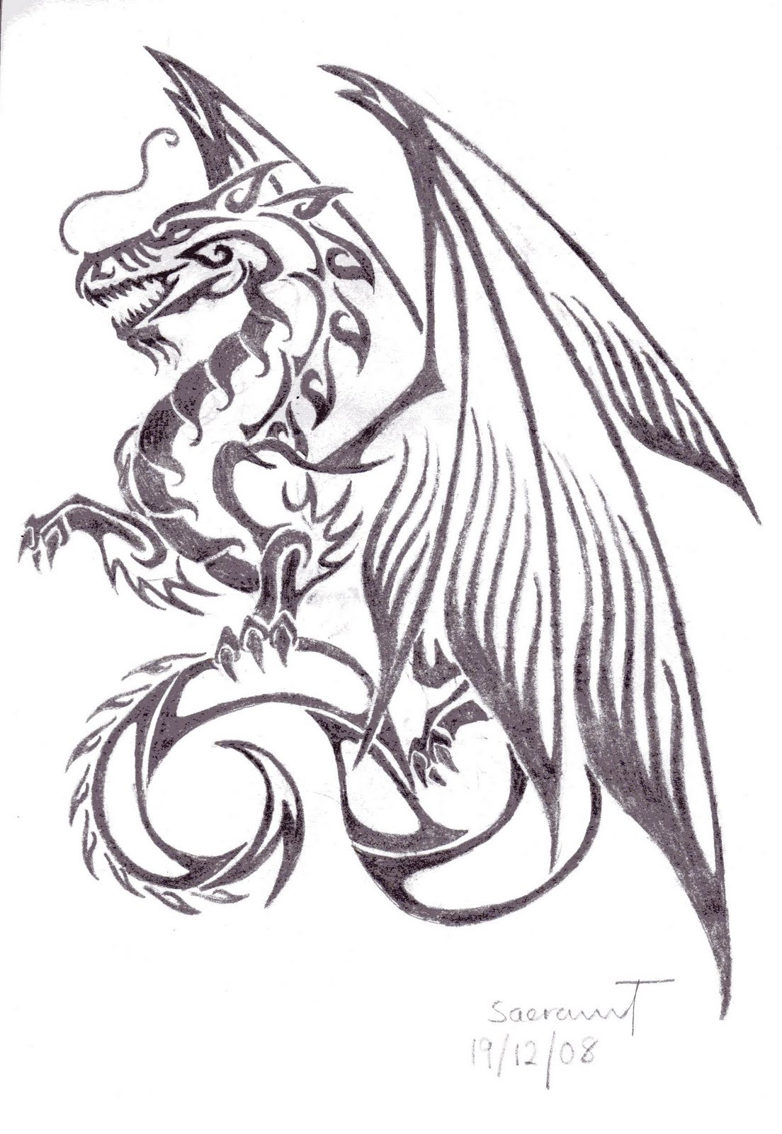 Dragon tattoos for women for Dragon tattoo drawings
