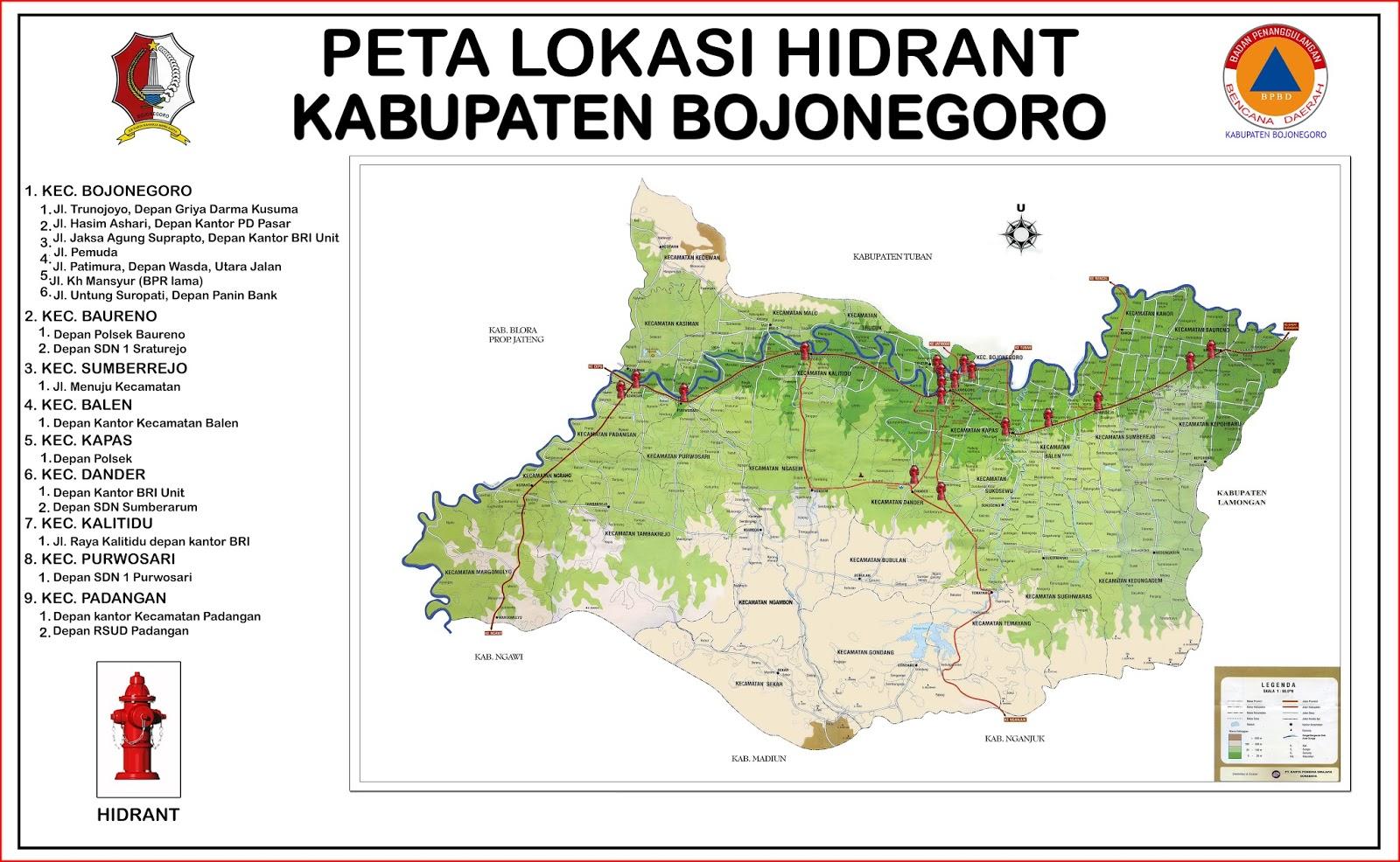 Blog mhey geje peta lokasi hidrant di kabupaten bojonegoro