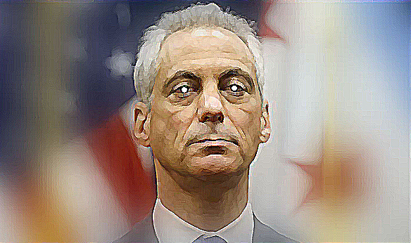 "Rahm Emanuel  He exemplifies a particularly loathsome breed of Democratic politician—the constantly triangulating, plutocrat-courting, privatizing so-called ""centrist,"" that so dominated the Bill Clinton years. Thanks in part to Rahm Emanuel, Clinton became known for his ability to ""out Republican the Republicans."" (Illustration by Ronald David Jackson)"