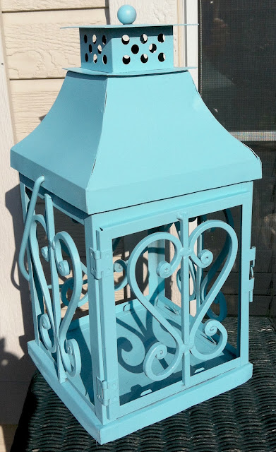 alt='Lantern makeover krylon blue ocean breeze""