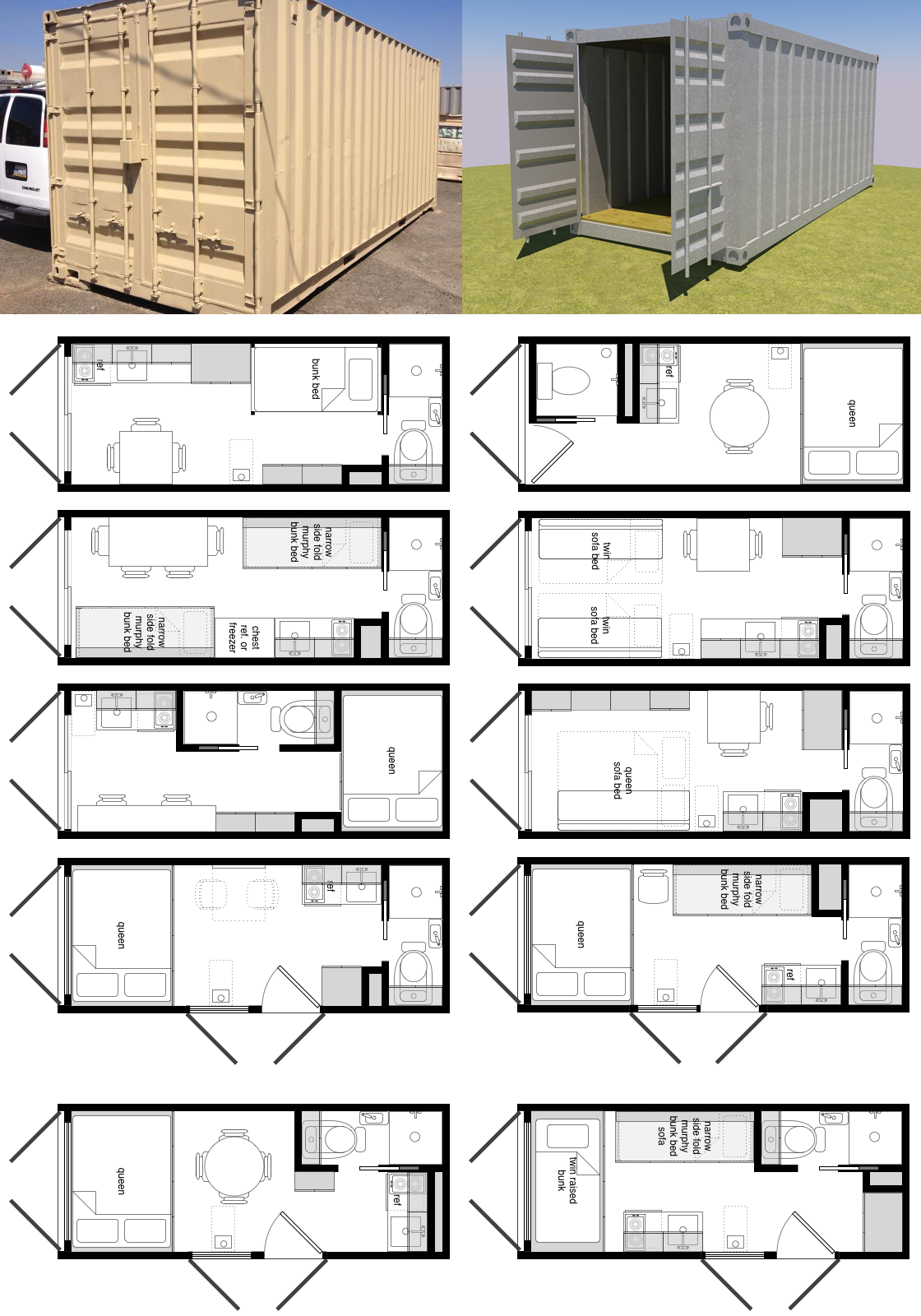 Чертежи и проекты домов из морских контейнеров с чертежом 174