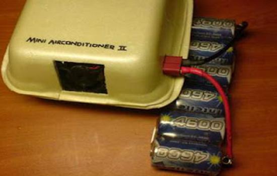 Power menggunakan baterai