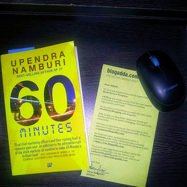 60 Minutes by Upendra Namburi Review Copy: Day 45 of 100 Happy Days