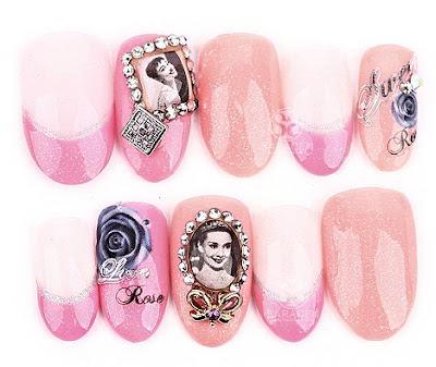 Audrey Hepburn Nail Art Design, Audrey Hepburn Nail Art