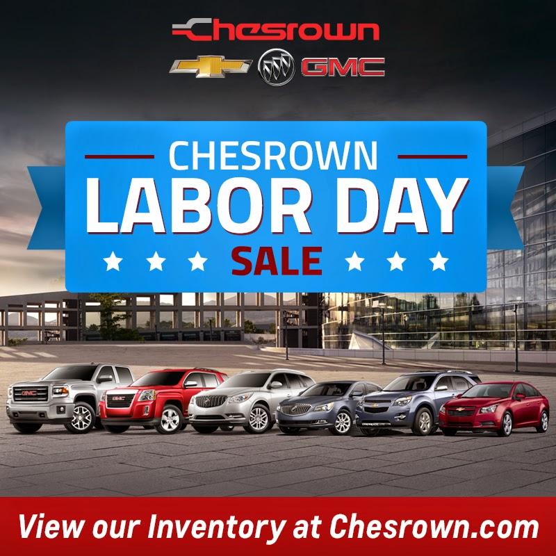 Chesrown Chevrolet Buick GMC Labor Day Sale!