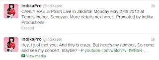 Carly Rae Jepsen Konser di Jakarta 27 Mei 2013